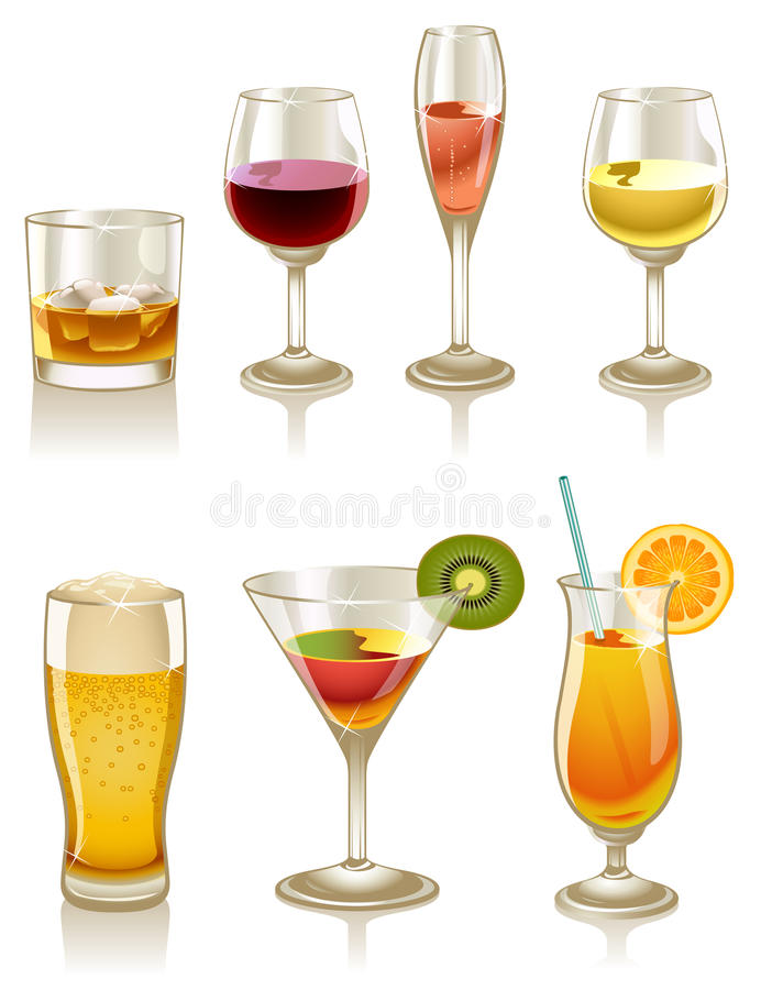 Cocktails en Dranken vector illustratie