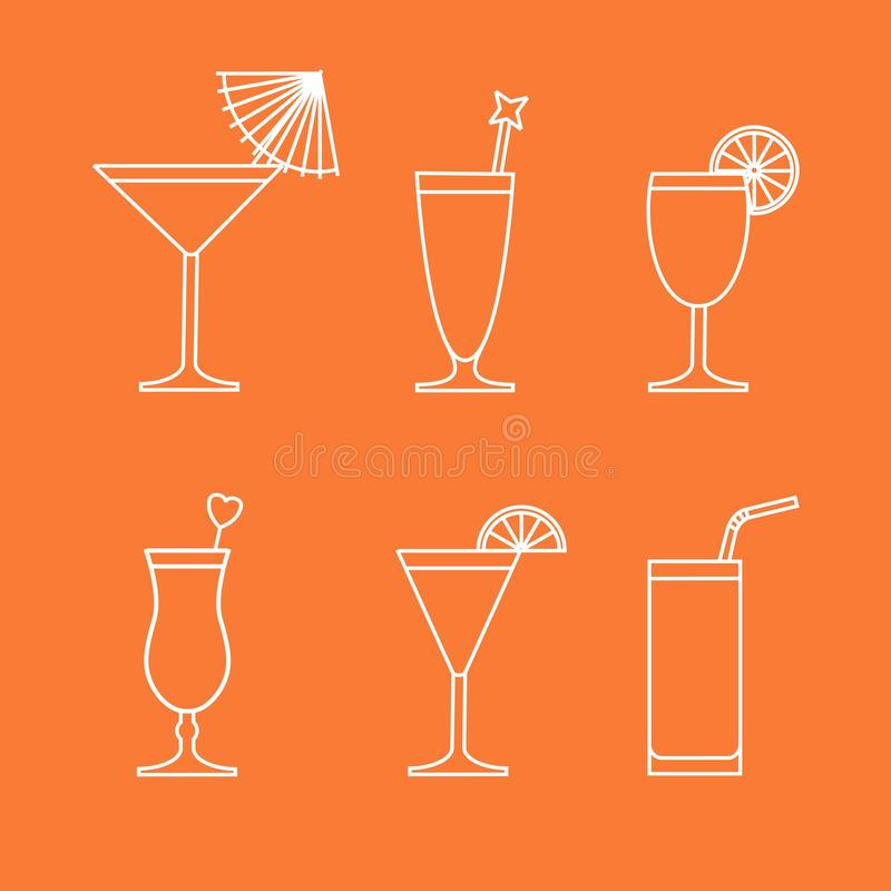 Cocktails en Dranken vector illustratie