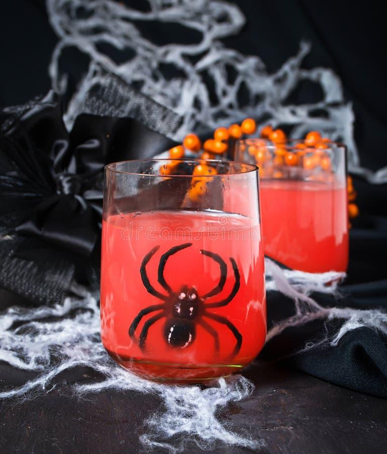 Cocktails fantasmagoriques de Halloween pour la partie photographie stock libre de droits