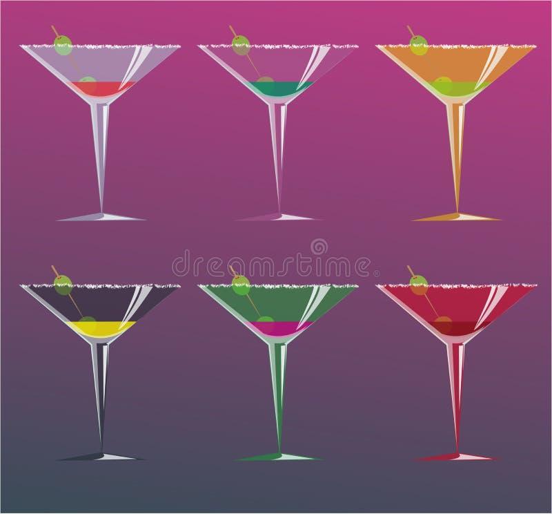 Cocktails, illustration de vecteur illustration de vecteur