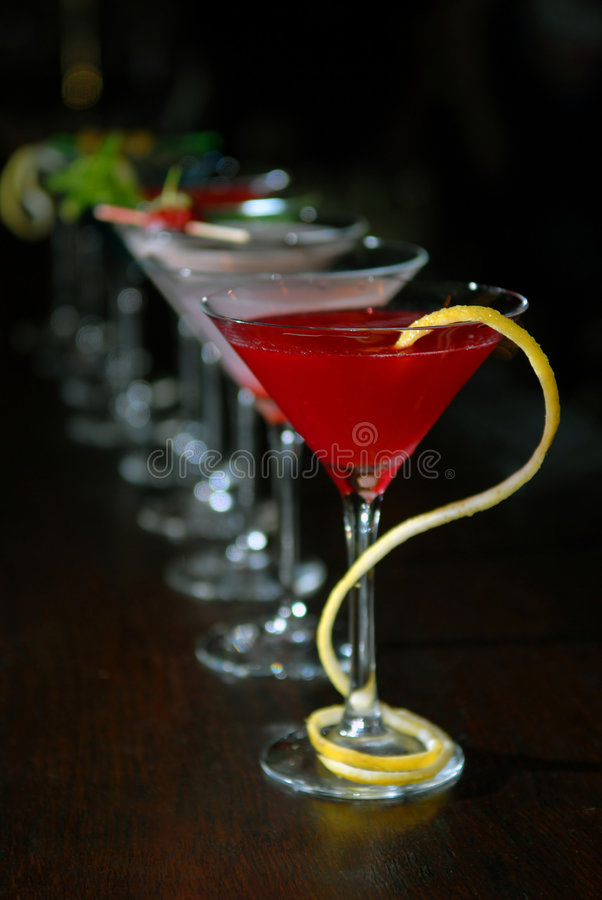 Free Cocktails In Martini Glasses Royalty Free Stock Photo - 7341915