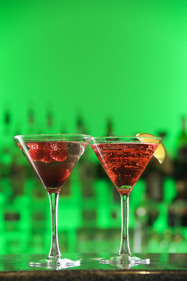 Cocktails in Martini Glasses