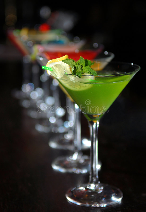 Download Cocktails In Martini Glasses Stock Photo - Image of blue, cocktails: 7842826