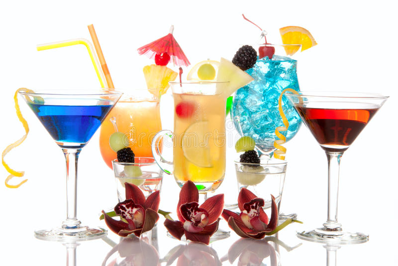 Download Cocktails Martini Tequila Sunrise, Hawaiian Royalty Free Stock Images - Image: 18250039