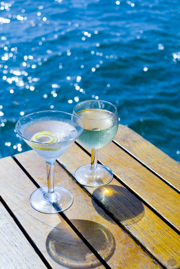 Free Cocktails On The Bay Stock Image - 2510681