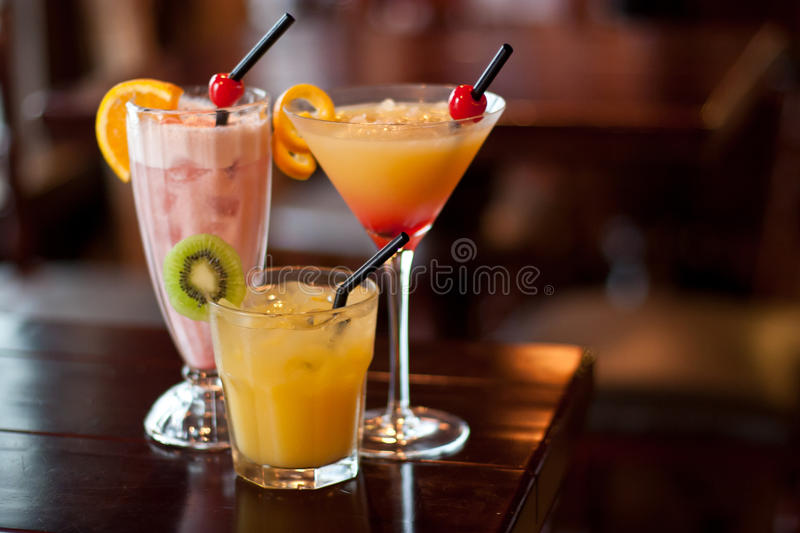 Cocktails on the table royalty free stock photography