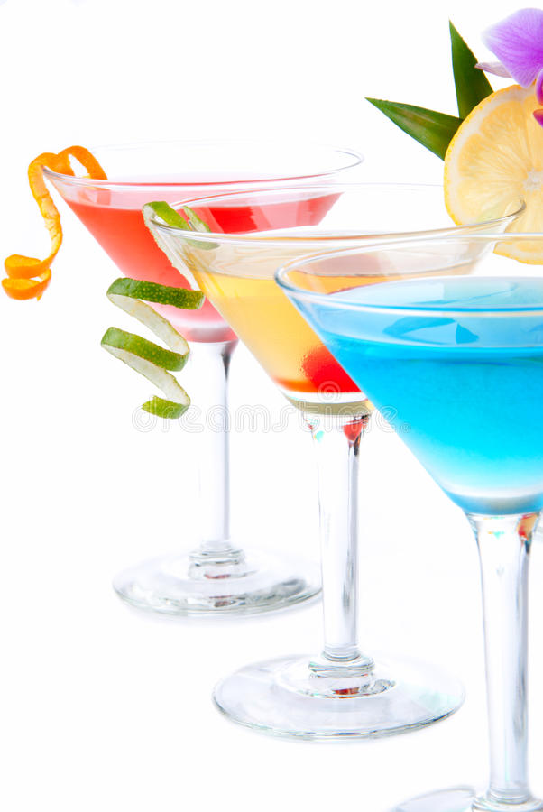 Cocktails tropicaux de Martini image stock