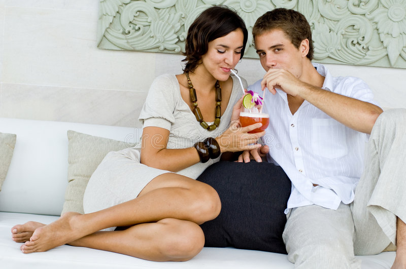 Cocktails on vacation royalty free stock image