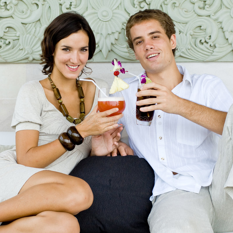 Cocktails on vacation royalty free stock photos