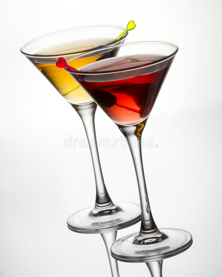 Free Cocktails With Olive Royalty Free Stock Image - 18177246