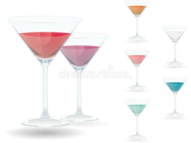 Cocktailsglas stock foto's