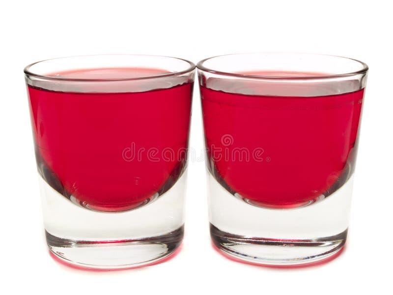 Cocktailsinzameling - Purpere Sirene (2 schoten) stock foto's