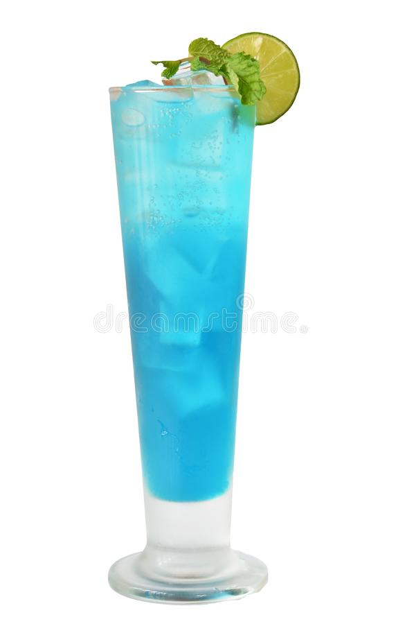 Cocktailsparadijs en alcohol op witte achtergrond stock afbeelding
