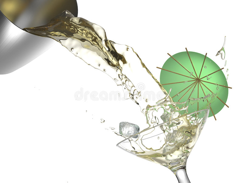 Cocktailspritzen trennte lizenzfreie stockbilder