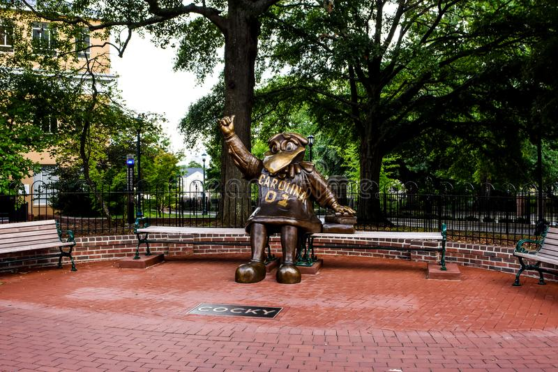 Cocky, Bronze Statue of the University of South Carolina`s Mascot.  stock image