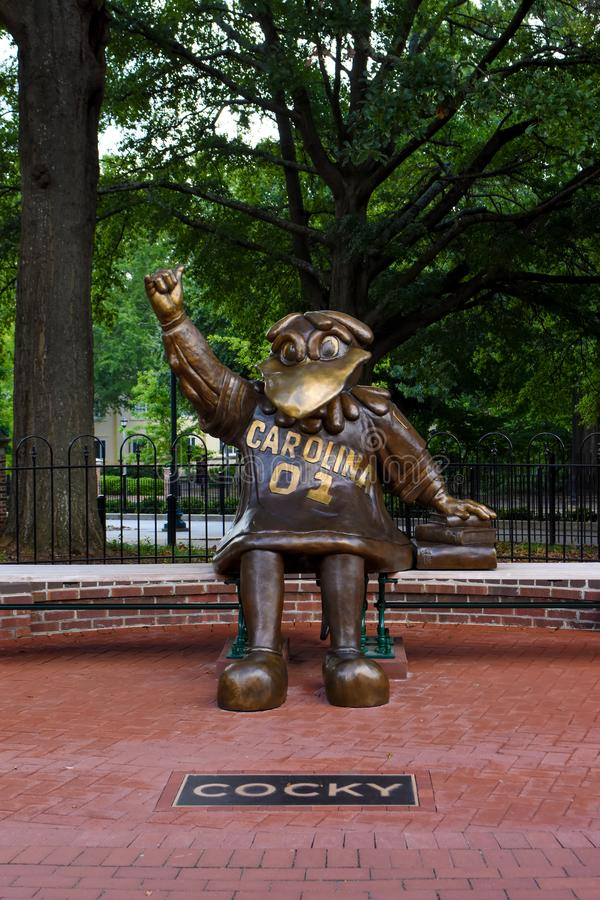 Cocky, Bronze Statue of the University of South Carolina`s Mascot.  stock photo