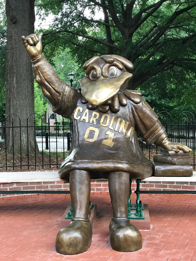Cocky, Bronze Statue of the University of South Carolina`s Mascot.  stock images