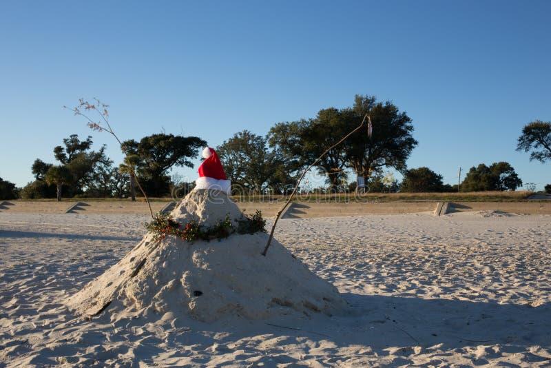 Coco caliente de la Navidad del tiempo en la playa fotos de archivo