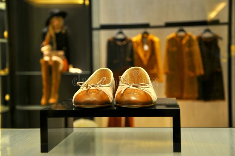 Coco Chanel fashion shop in Italy stock photography