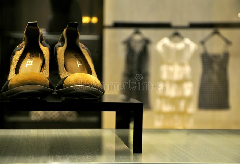 Coco Chanel fashion store in Florence, Italy royalty free stock photos