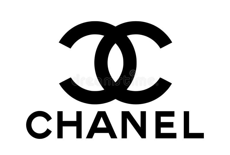 Coco Chanel Logo Vector royaltyfri illustrationer