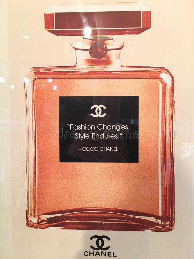 Coco Chanel Number Five arkivfoton