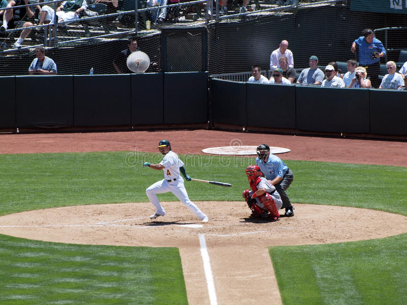 Download Coco Crisp Swinging Through After Making Contact Editorial Image - Image: 14859545