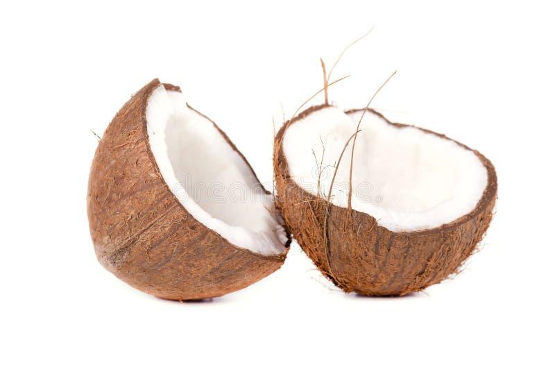 Coco de la fruta tropical Cocos aislados en el fondo blanco fotografía de archivo libre de regalías