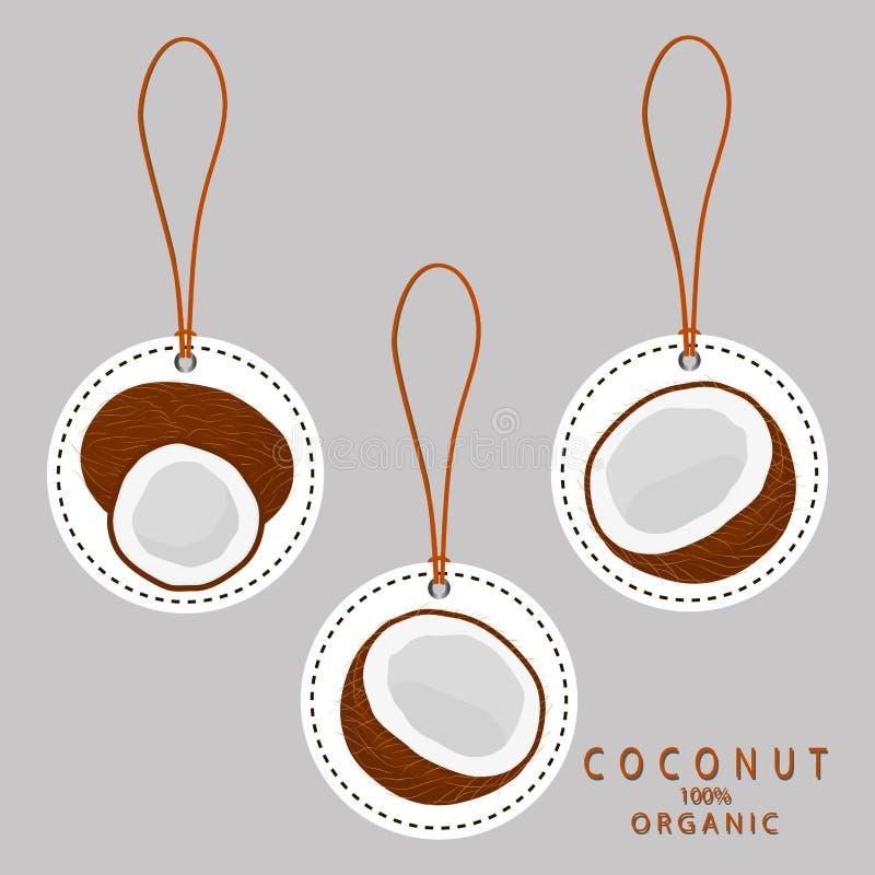Coco del blanco de la fruta libre illustration