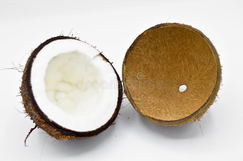 Coco ex?tico do fruto com superf?cie marrom imagem de stock royalty free