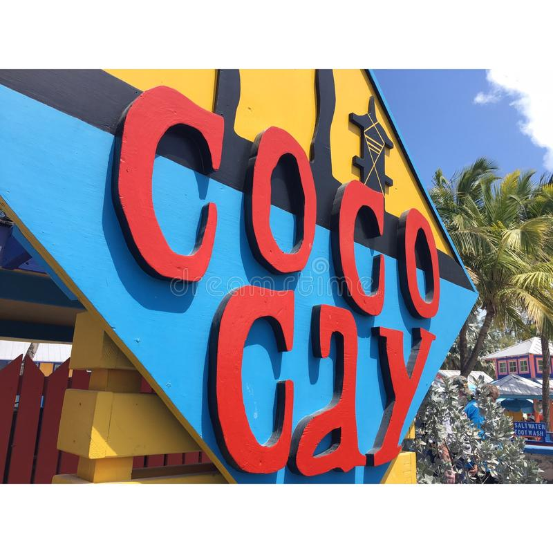 Coco Kay Island royaltyfria foton