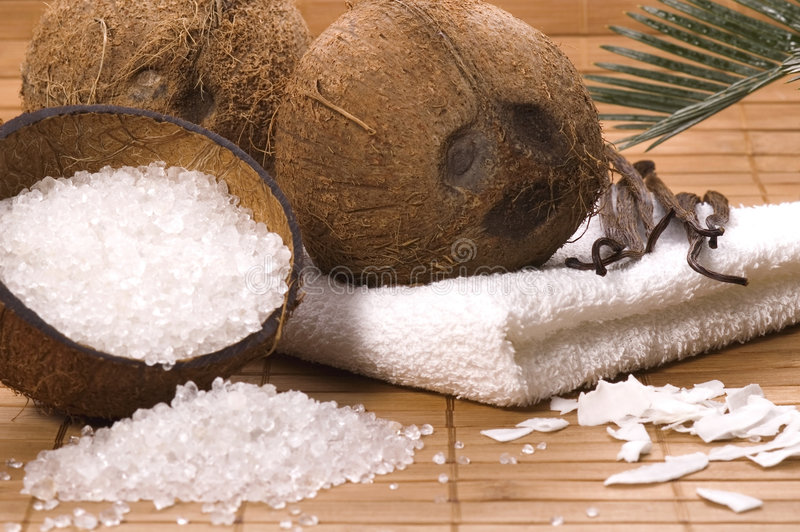 Download Coco and vanilla bath stock photo. Image of brown, ingredient - 2417818