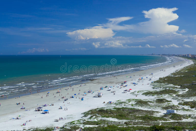 Cocoa beach, Cape Canaveral. Endless Cocoa beach in Cape Canaveral, FL, USA stock photography