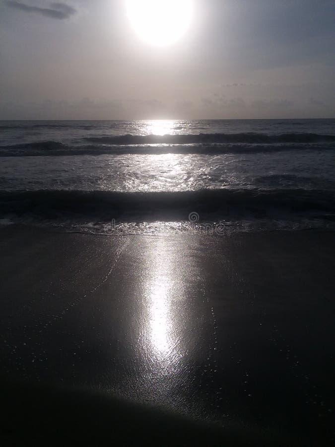 Waves in Atlantic Ocean royalty free stock images
