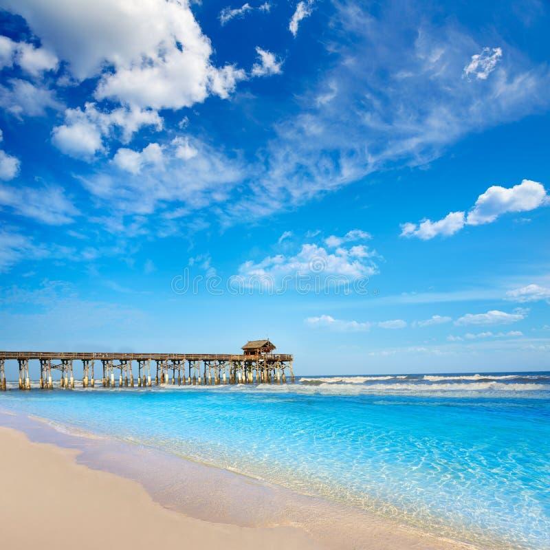 Cocoa Beach pier in Cape Canaveral Florida. Cocoa Beach pier in Cape Canaveral of Florida near Orlando stock photography