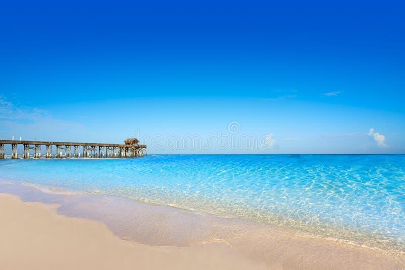 Cocoa Beach pier in Cape Canaveral Florida. Cocoa Beach pier in Cape Canaveral of Florida near Orlando stock image