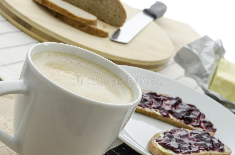 Download Cocoa with breakfast stock image. Image of drink, morning - 27969055
