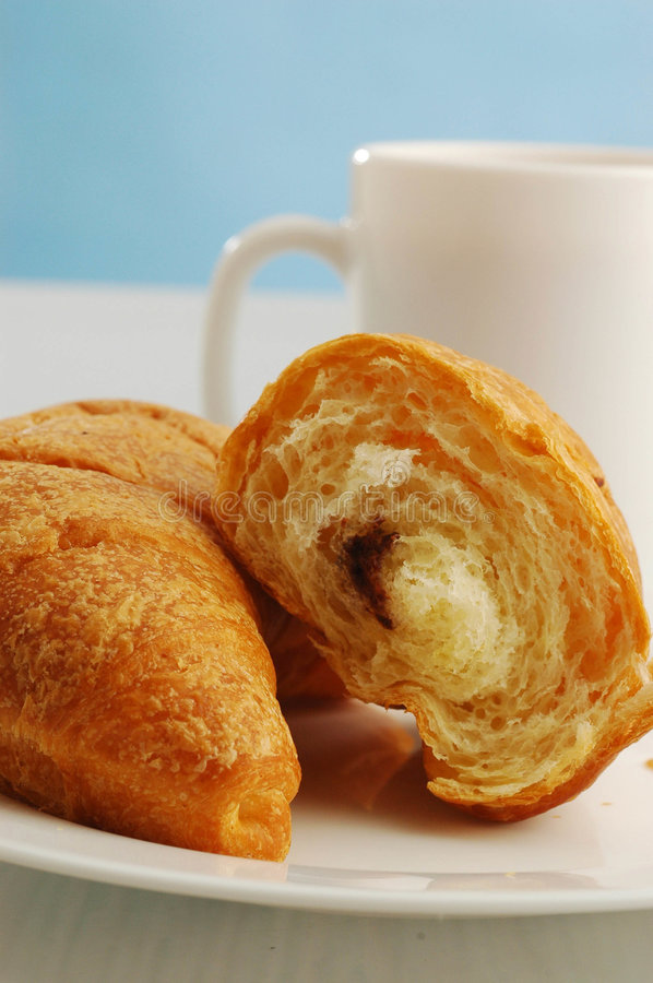 Download Cocoa And Croissant Stock Photo - Image: 5712410