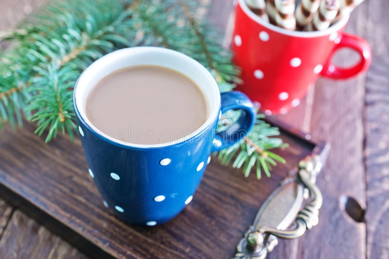 Cocoa drink stock images
