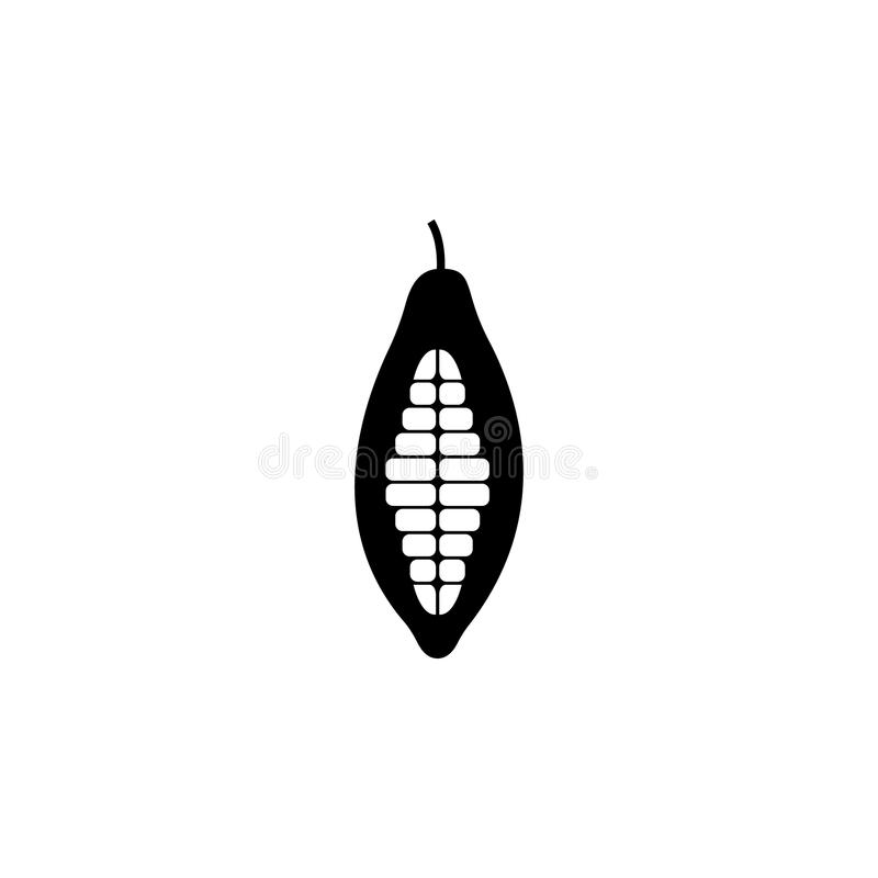 cocoa icon. Element of seeds and nuts elements illustration. Premium quality graphic design icon. Signs and symbols collection ico royalty free illustration