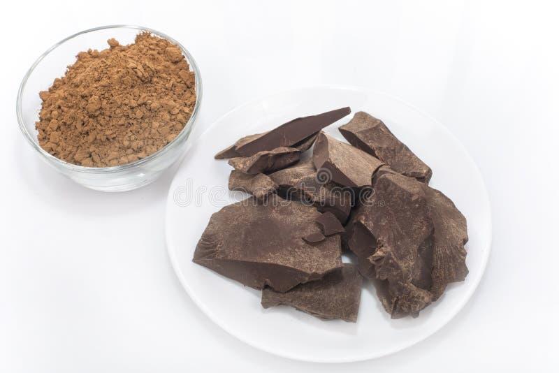 Cocoa paste stock image