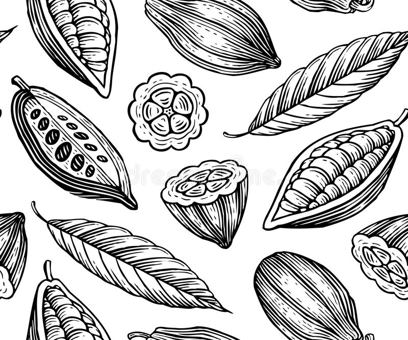 Cocoa pattern stock illustration