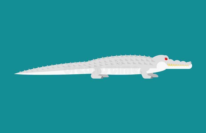 Cocodrilo del albino aislado Monstruo del blanco del cocodrilo Ani despredador libre illustration