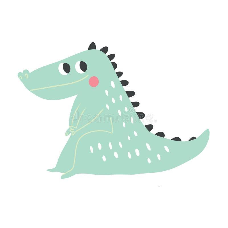 Cocodrilo historieta Ejemplo del vector del cocodrilo ilustración del vector