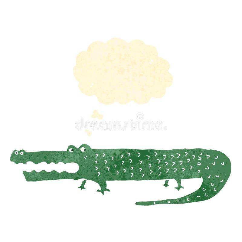 cocodrilo retro de la historieta ilustración del vector