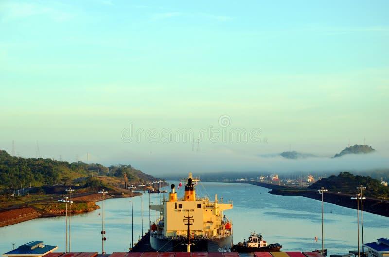 Cocoli sluit landschap, het Kanaal van Panama royalty-vrije stock foto's