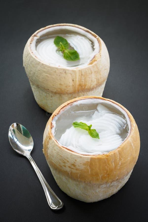 Coconut agar, asian dessert. Coconut agar is a traditional asian dessert stock photo