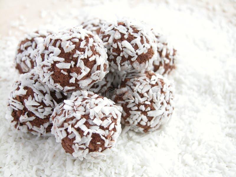 Coconut balls stock photo