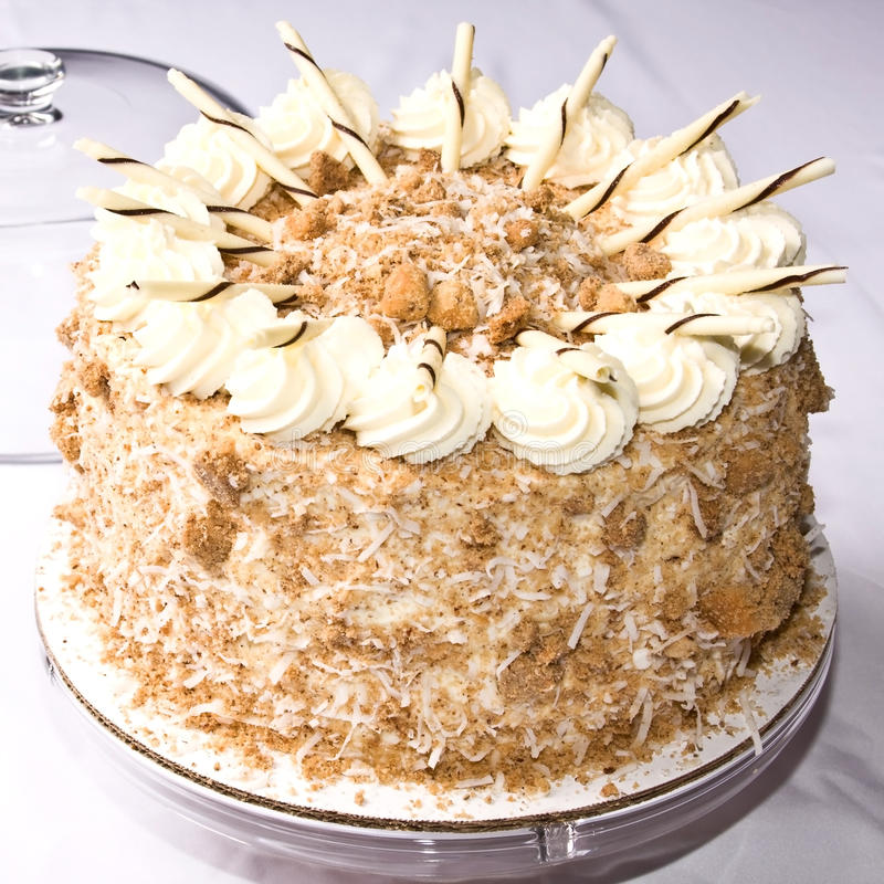 Download Coconut cake stock image. Image of close, event, love - 16505805