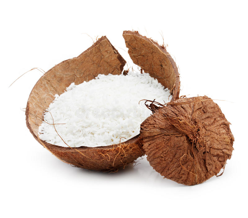 Coconut chips royalty free stock image